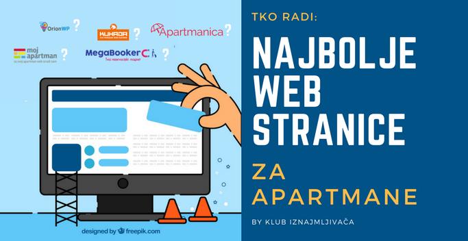 web stranica za apartman
